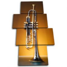 Trumpet Brass Golden Musical - 13-0013(00B)-MP04-PO